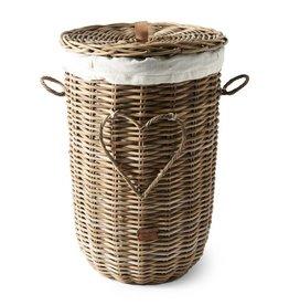 Rivièra-Maison RM Rustic Rattan Heart Laundry Basket
