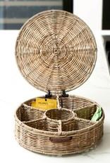 Rivièra-Maison Rivièra Maison Rustic Rattan Tea Box Round