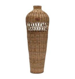 Rivièra-Maison Rustic Rattan Cross Weave Vase