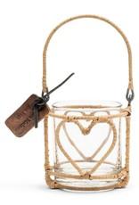 Rivièra-Maison Rivièra Maison Rustic Rattan Heart Votive 480230
