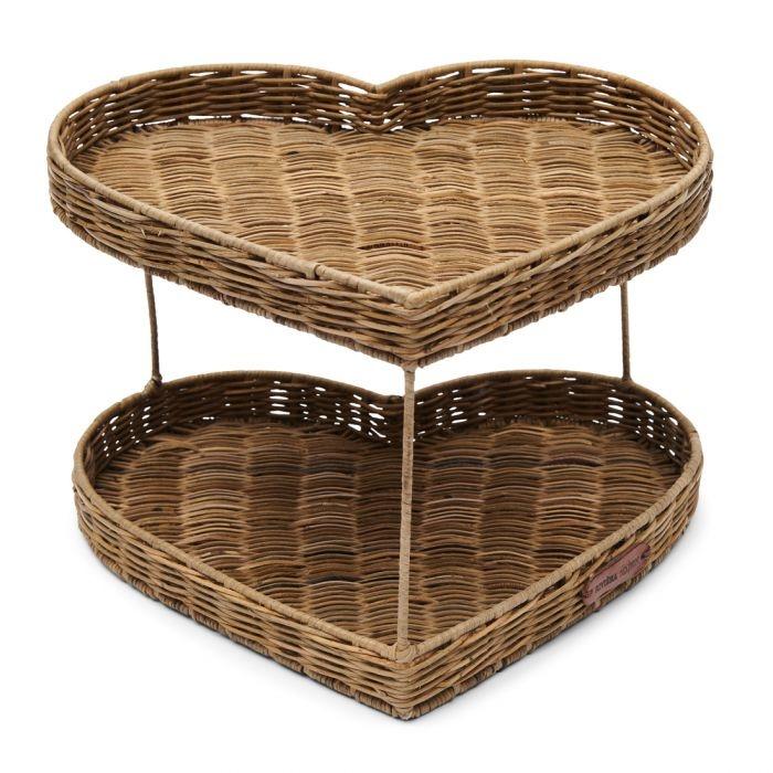 Rivièra-Maison Rivièra Maison Rustic Rattan Double Heart Tray 474230