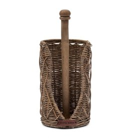 Rivièra-Maison Rustic Rattan Diamond Weave Kitchen Roll Holder