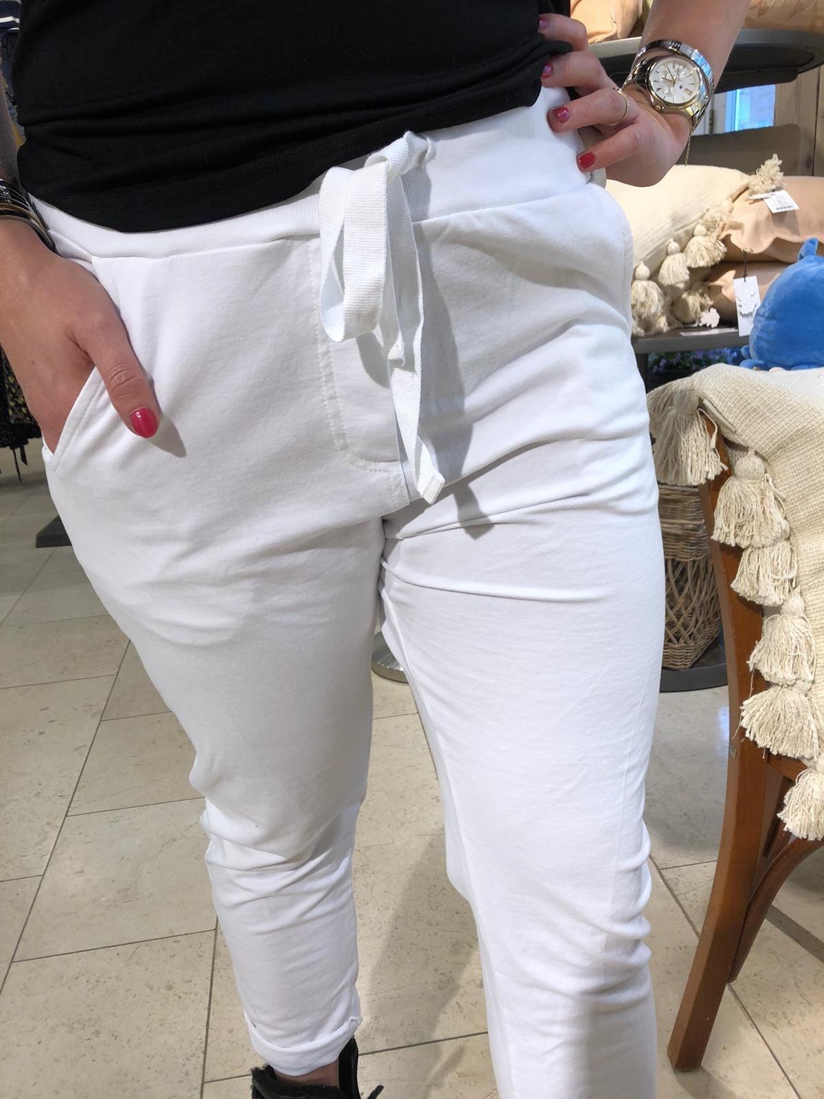 Damen Jogging-Freihzeit Hose mit breitem Bündchen ´ Wendy Trendy´ Farbe Schwarz