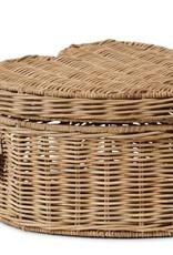 Rivièra-Maison Rivièra Maison Rustic Rattan Happy Heart Basket High