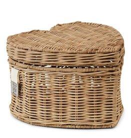 Rivièra-Maison RM Rustic Rattan Happy Heart Basket High