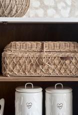 Rivièra-Maison Rivièra Maison Rustic Rattan Diamond Weave Bread Basket