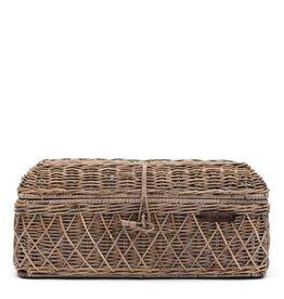 Rivièra-Maison RM Rustic Rattan Diamond Weave Bread Basket