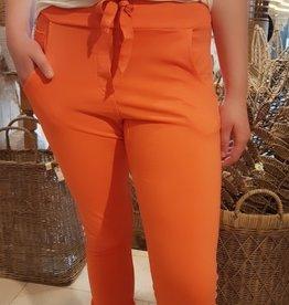 WENDY TRENDY Jogging Broek  - Oranje met opgestikte zakken.