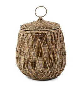 Rivièra-Maison RM Rustic Rattan Diamond Weave Storage Basket