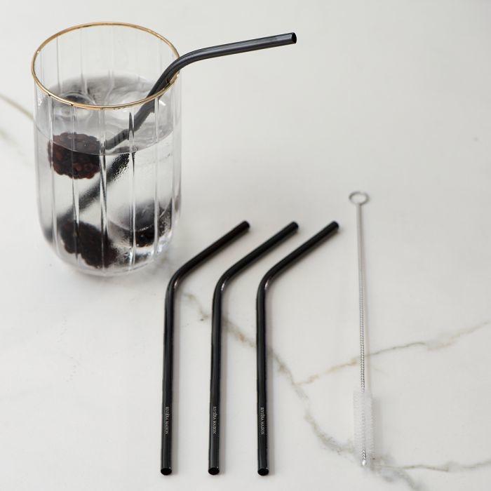 Rivièra-Maison Rivièra Maison Happy Straws Metal black 4 pcs