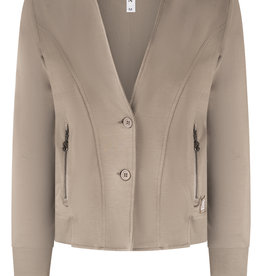 ZOSO 215Ivy Sporty jacket with techprint 0009/0005-taupe/off white