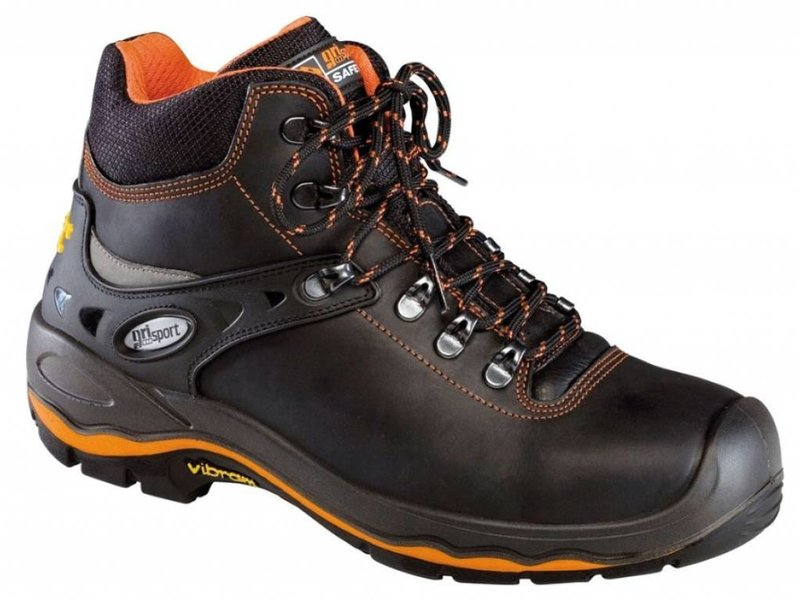 Grisport 72003L Zw./Oranje S3 UK Boot Vibram