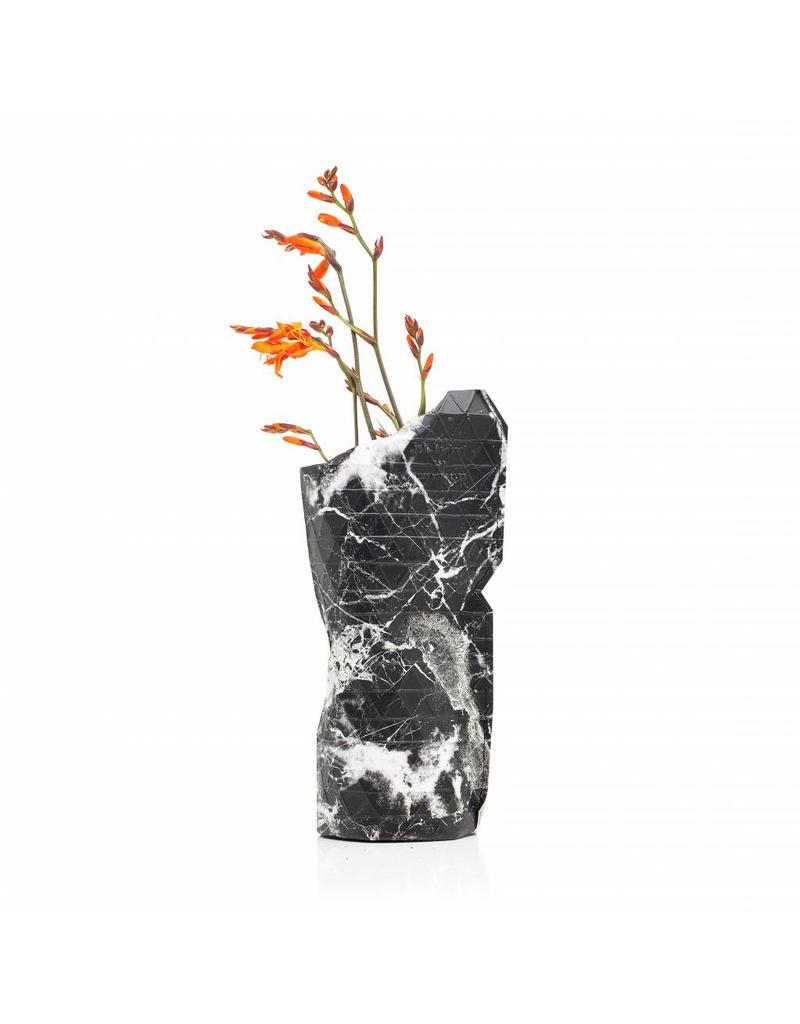 Paper Vase Cover Marble Black (small)