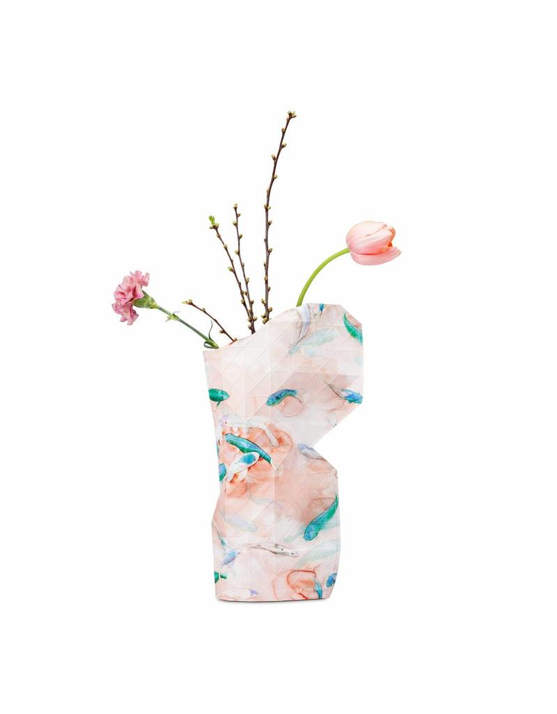 Paper Vase Cover  Pink Fish