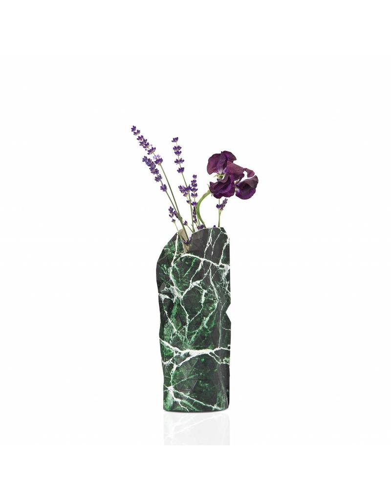 NEW: Paper Vase Cover Marble Green (small)