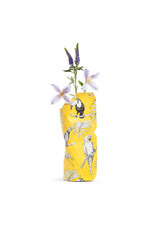 Paper Vase Cover Yellow Birds (small)