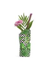 Paper Vase Cover Geo Jungle  (small)