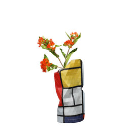 Paper Vase Cover Composition Red - Mondriaan (small)