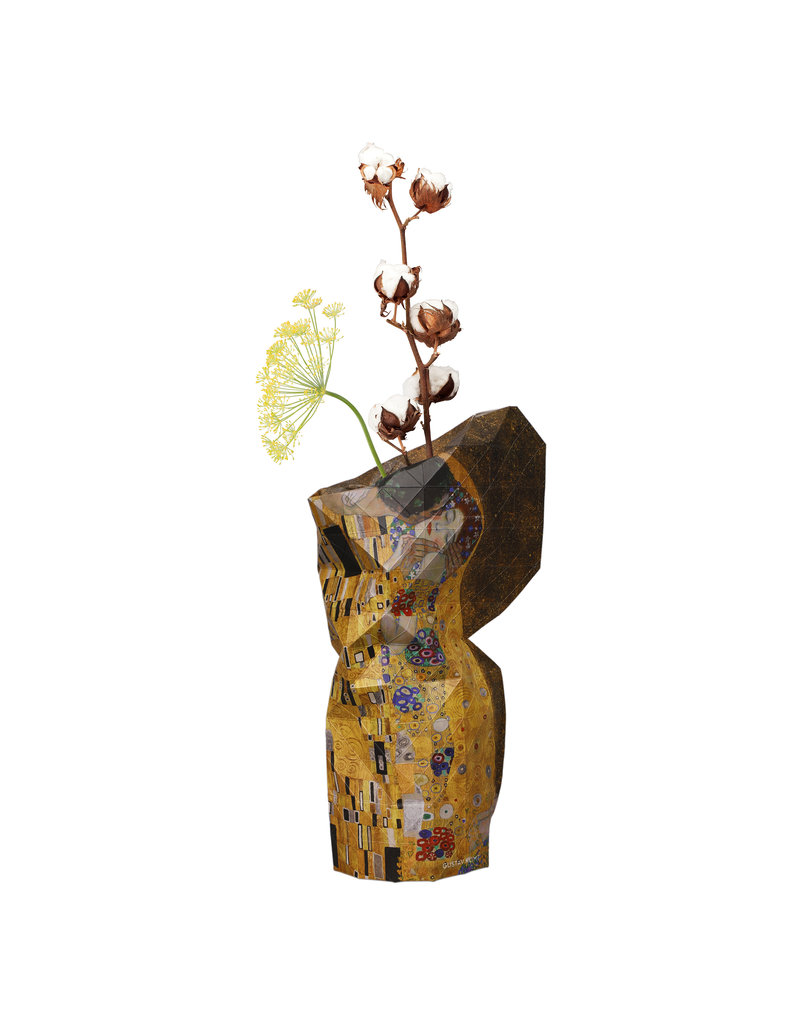 Paper Vase Cover The Kiss - Klimt