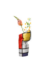 NEW: Paper Vase Cover Composition Red- Mondriaan