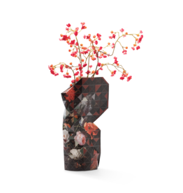 NEW: Paper Vase Cover Still Life with Flowers - Mignon