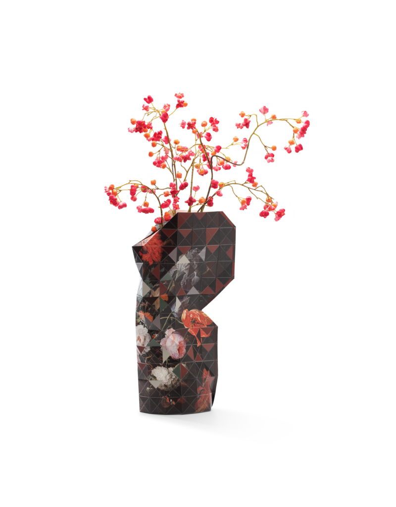 Paper Vase Cover Still Life with Flowers - Mignon