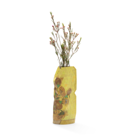 Paper Vase Cover Sunflowers - Van Gogh (small)