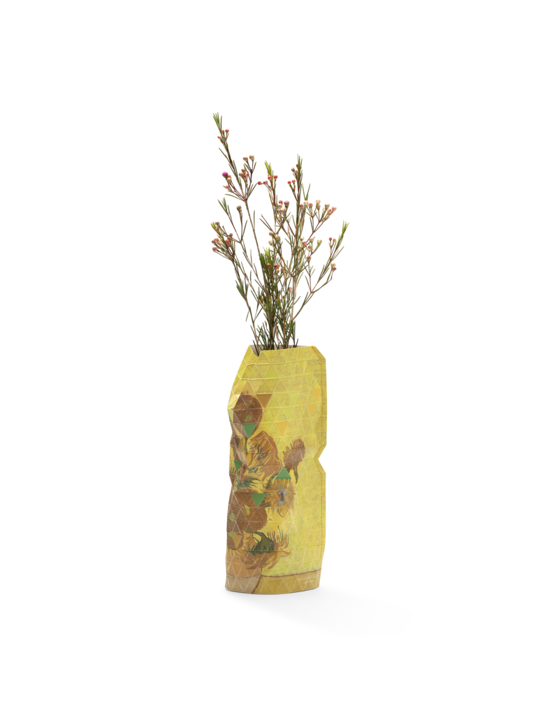 NEW: Paper Vase Cover Sunflowers - Van Gogh (small)