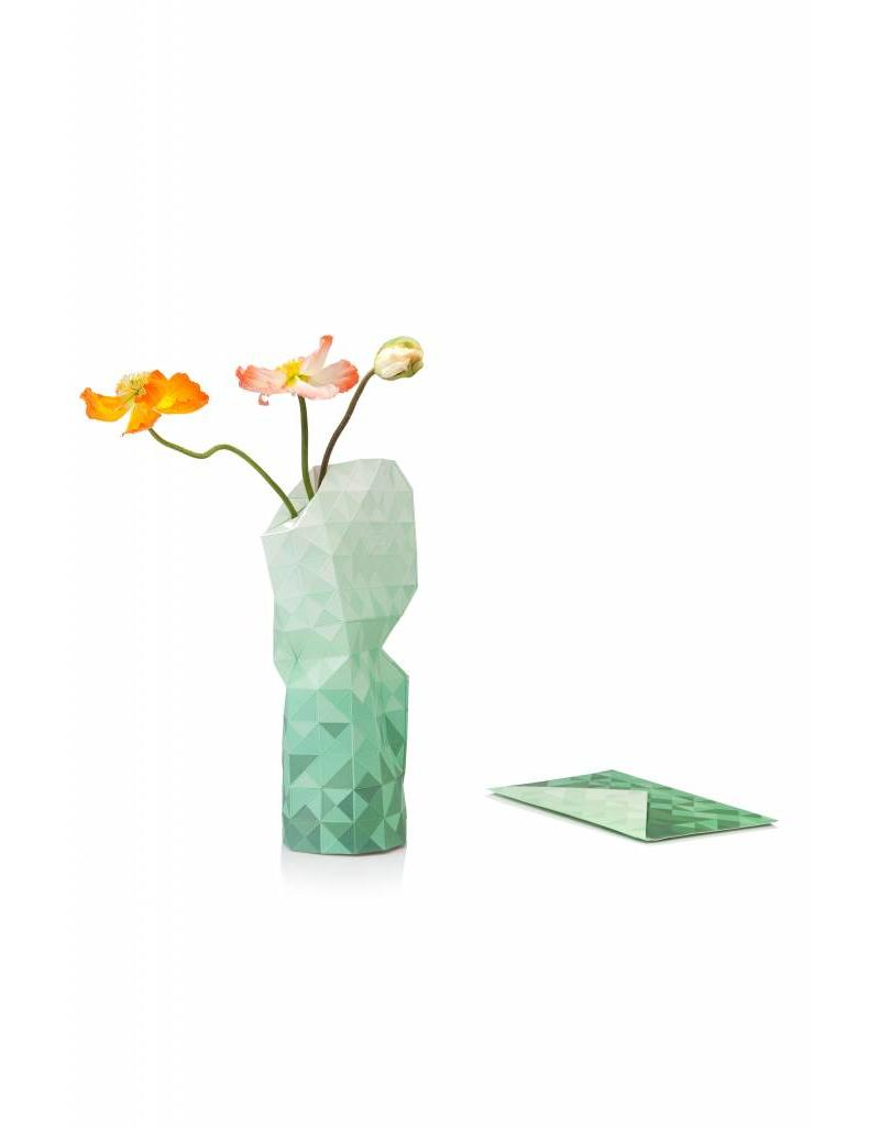 Paper Vase Cover Green Gradient