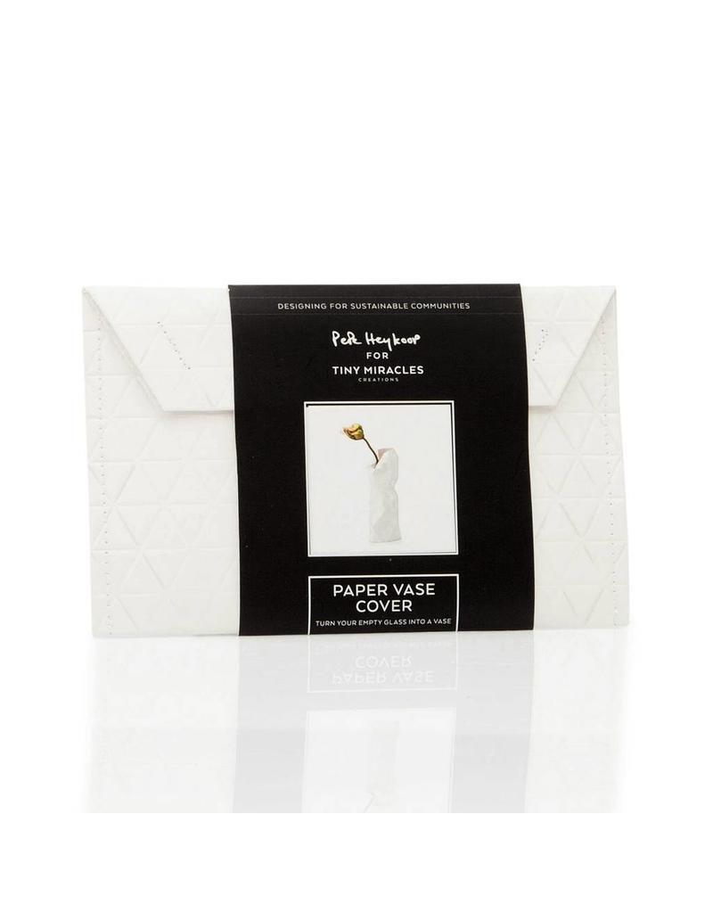 Paper Vase Cover Plain White (small)