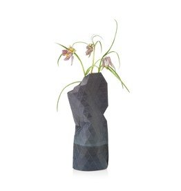 Paper Vase Cover Watercolor Grey (small)