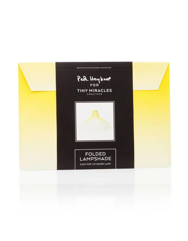 Folded Lampshade Yellow Gradient