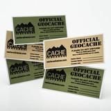 Cache Advance Cache label (groen) - small