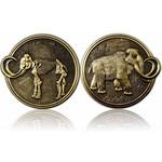 CacheQuarter Mammoet Geocoin - Antiek goud