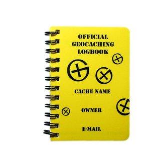 CacheQuarter Spiraal logboek regular - A7 formaat geel