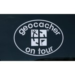 CacheQuarter Decal sticker Geocacher on Tour