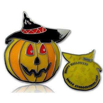CacheQuarter Halloween pompoen LE - geel