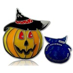 CacheQuarter Halloween pompoen LE - blauw