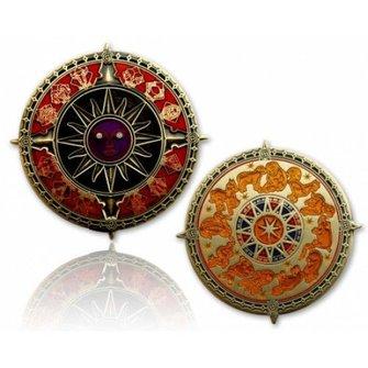 CacheQuarter Zodiac kompas - antiek goud
