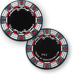 Coins and Pins Casino Poker coin - zwart