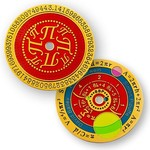 Coins and Pins Coin PI-dag: 14 maart - gepolijst goud