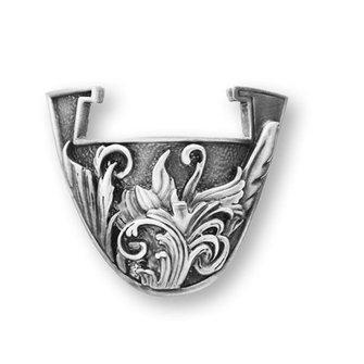 Coins and Pins Coin standaard bloemkrullen - klein zilver