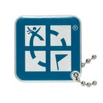 Groundspeak Logo tag - blauw