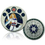CacheQuarter 4 Seizoenen coin Winter - satijn zilver XLE
