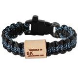 Geo Knots Trackable survival armband - blauw