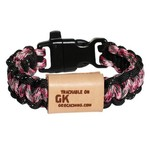 Geo Knots Trackable survival armband - roze
