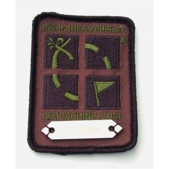 Cache Zone Trackable patch klittenband - Geocaching logo camouflage