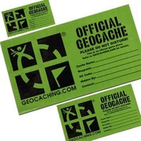 Geocache label stickers