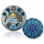 CacheQuarter 4 Seizoenen coin Winter - antiek zilver