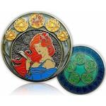 CacheQuarter 4 Seizoenen coin Zomer - antiek zilver